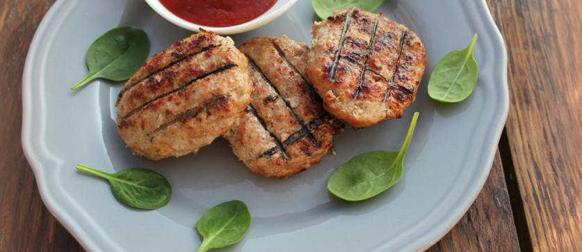 Spinach turkey burgers