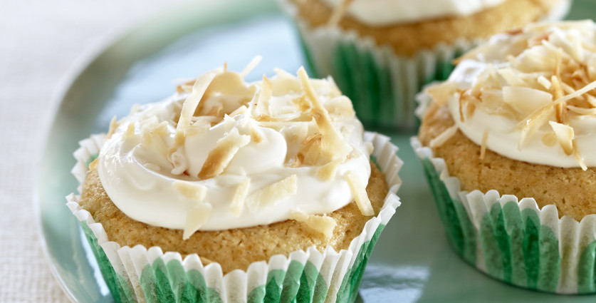 Lime-Ginger Baby Cakes with Creamy Coconut Frosting - Joy ...