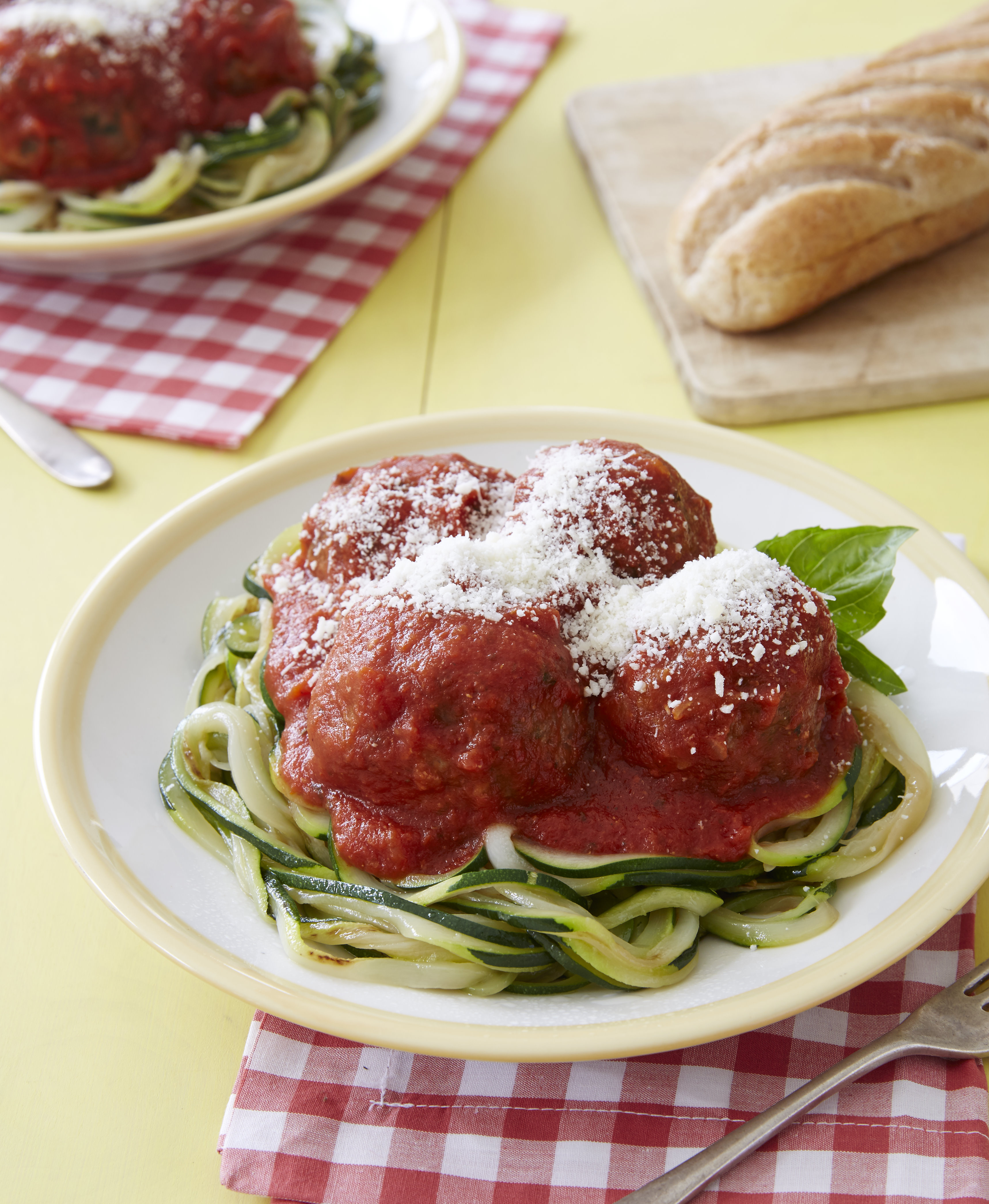 Zucchini Linguine with Meatballs - Joy Bauer