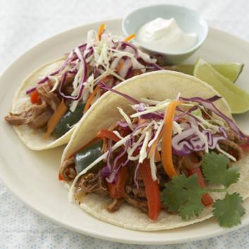 Spicy Pork Tacos with Sassy Slaw - Joy Bauer
