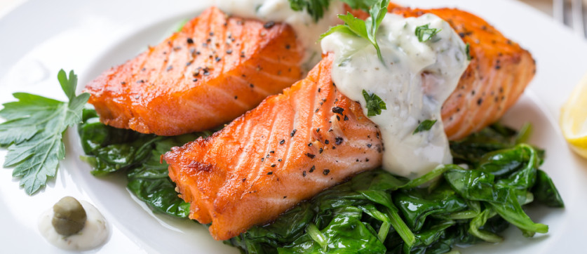 Baked Salmon With Saut 233 Ed Spinach Joy Bauer